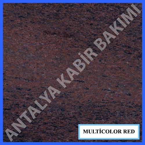multicolor red